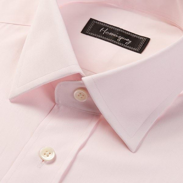 Slim Fit Men's Plain Pink Shirt