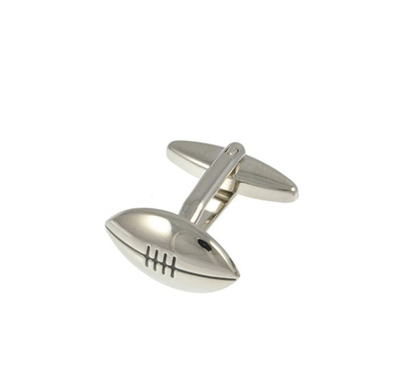 Rugby Ball Base Metal Cufflinks
