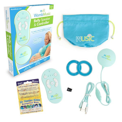 Deluxe Pack - Play Music to your Baby with Womb Music Belly Speaker System by Wusic