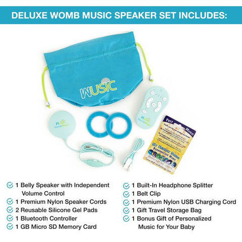 DELUXE Belly Speaker Pack - Play Music to your Baby with our Womb Music Belly Speaker & Bluetooth Controller