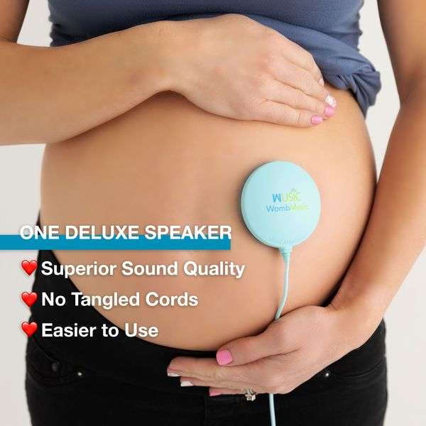 BELLY SPEAKER Pack - Play Music to your Baby with our Womb Music Belly Speaker by Wusic