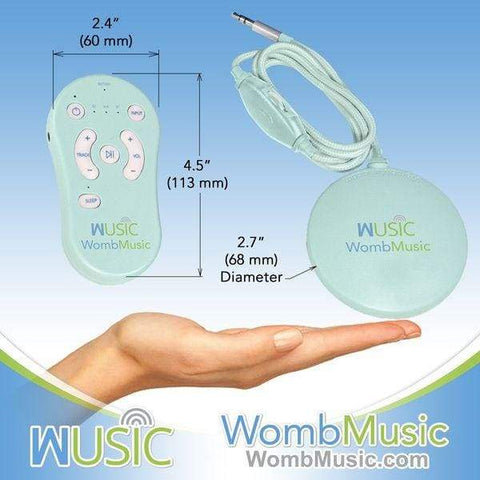 Deluxe Pack - Play Music to your Baby with Womb Music Belly Speaker System by Wusic - Womb Music Baby