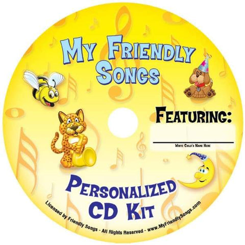 Image of Friendly Songs Personalized Music Kit - Personalized Music for your Child