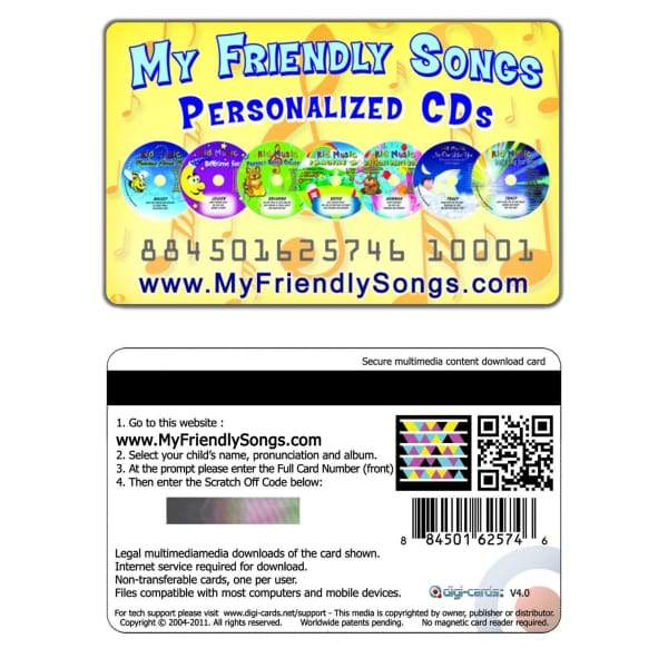 Friendly Songs Personalized Music Kit - Personalized Music for your Child