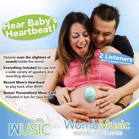 Listen to your Babys Heartbeat with Womb Music Baby Heartbeat Monitor - Baby Monitor