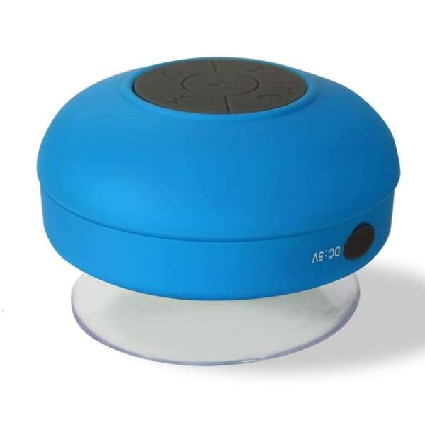 Wusic Waterproof Shower Speaker - Blue - Shower Speaker