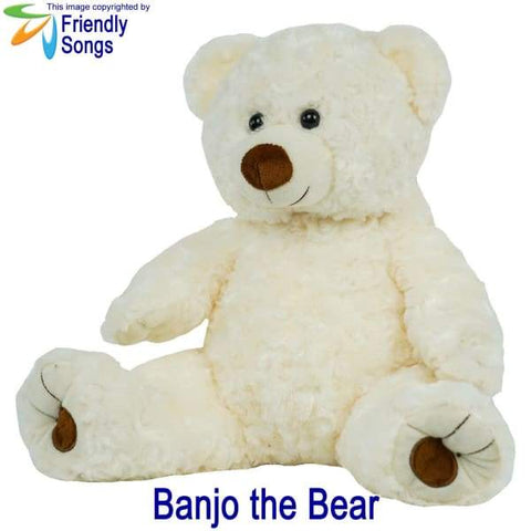 Image of YOUR Babys Heartbeat - Personalized Stuffed Animal Plush Toy with your Babys Heartbeat (or your Favorite Song) inside! - Banjo the Bear /