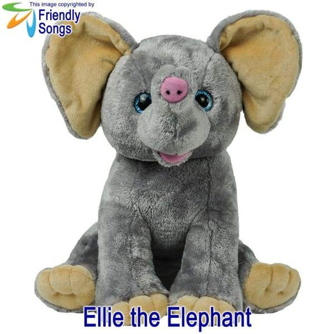 YOUR Babys Heartbeat - Personalized Stuffed Animal Plush Toy with your Babys Heartbeat (or your Favorite Song) inside! - Ellie the Elephant