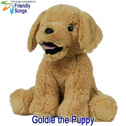Image of YOUR Babys Heartbeat - Personalized Stuffed Animal Plush Toy with your Babys Heartbeat (or your Favorite Song) inside! - Goldie the Puppy /