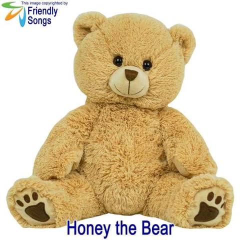Image of YOUR Babys Heartbeat - Personalized Stuffed Animal Plush Toy with your Babys Heartbeat (or your Favorite Song) inside! - Honey the Bear /