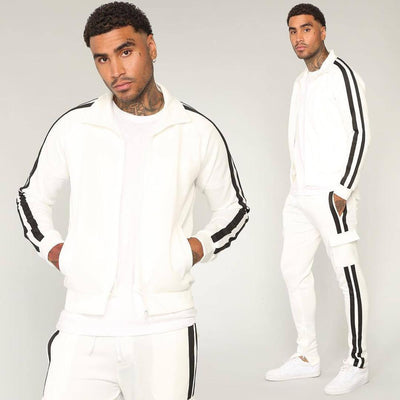 Side Striped Casual SPorts Suit