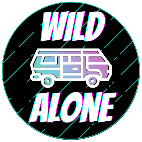 WILD|ALONE STICKER [ROUND NEON VAN]