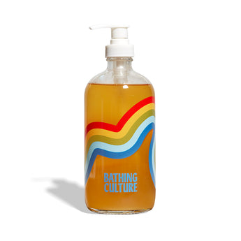 Bathing Culture - Refillable Mind and Body Wash Glass Bottle - CAP Beauty