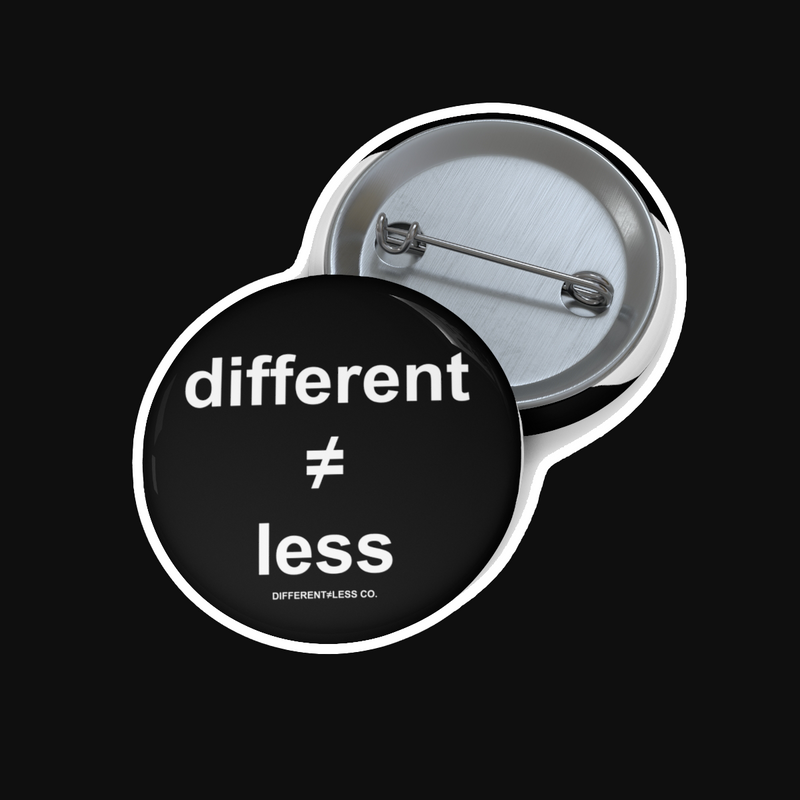 DIFFERENT≠LESS CO. Original 1.25 inch Button (WT)