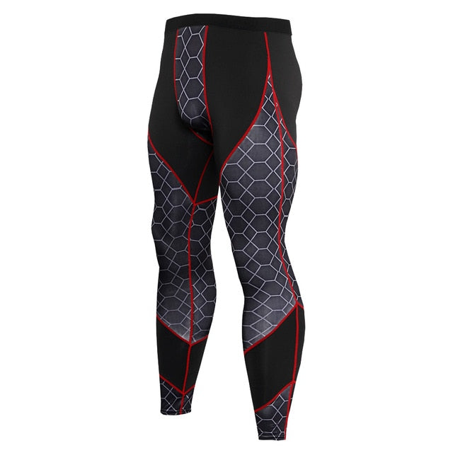 Snake Printed Compression Tights