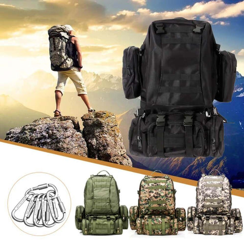 StealthOps™Tactical 50L 600D Military Backpack Bug-Out Bag Nylon Rucksack Outdoor Camping with MOLLE Goes anywhere