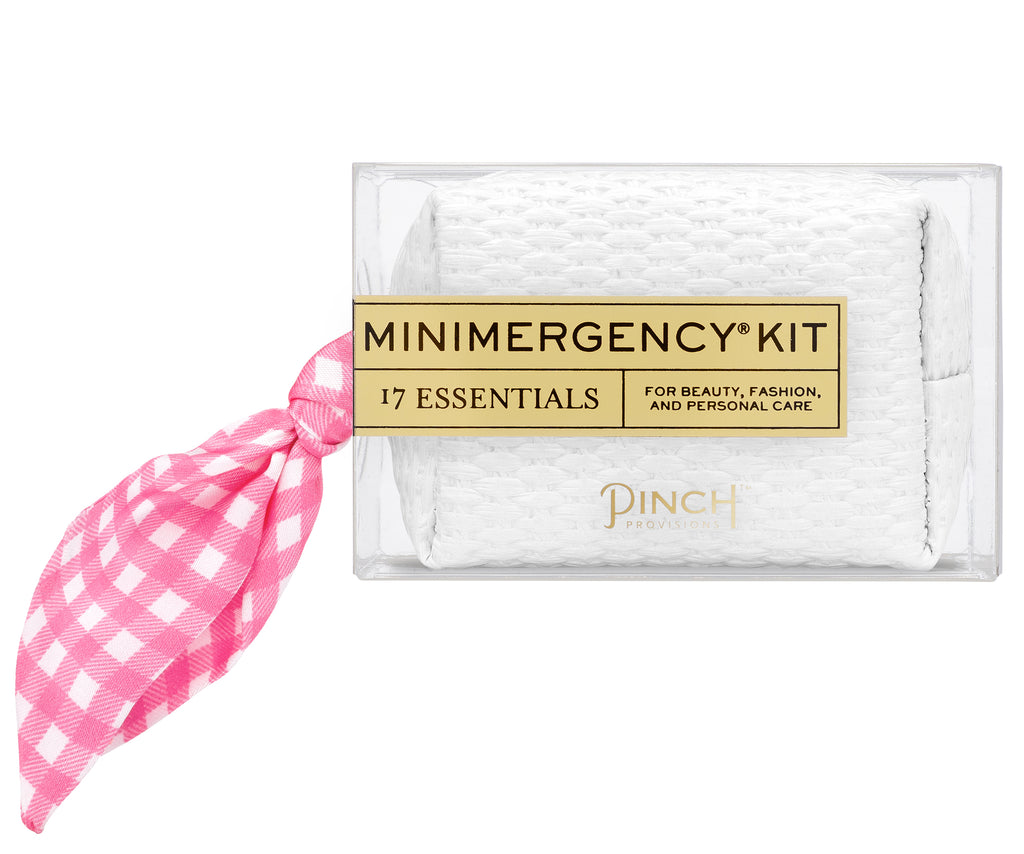 Gingham Scarf Minimergency Kit