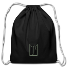 Load image into Gallery viewer, Cotton Drawstring Bag - black