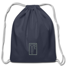 Load image into Gallery viewer, Cotton Drawstring Bag - navy