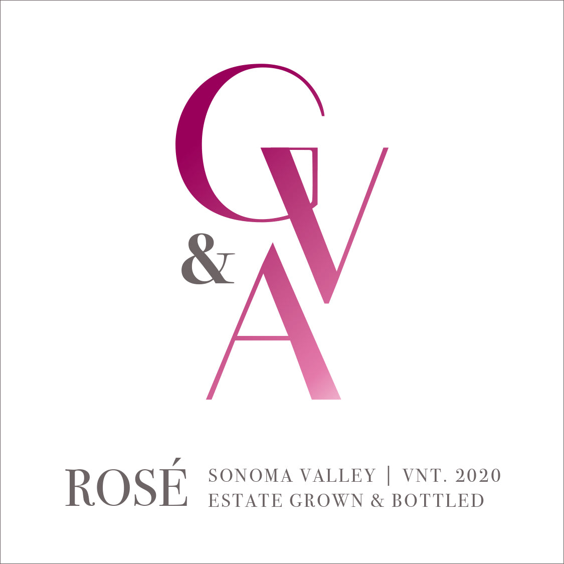 2020 GV&A Rose of merlot