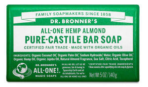 Almond - Pure-Castile Bar Soap