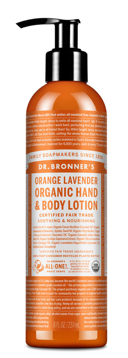 Orange Lavender - Organic Lotions