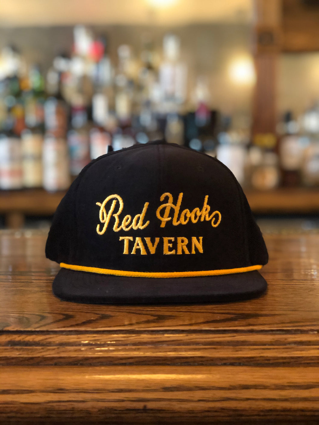 Red Hook Tavern Black and Gold Hat
