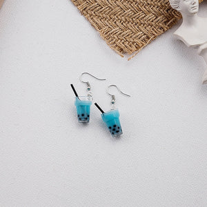 Bubble Cup Drink Earrings