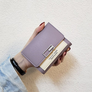 Mini Cat Leather Clutch Wallet