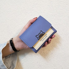 Load image into Gallery viewer, Mini Cat Leather Clutch Wallet