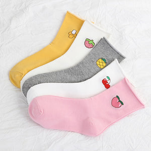 Fruit Cartoon Socks