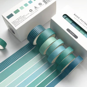 Basic Pattern  Washi Tape Set (8 rolls/set)