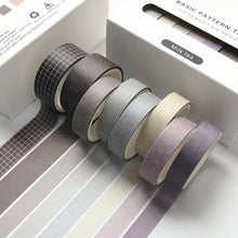 Load image into Gallery viewer, Basic Pattern  Washi Tape Set (8 rolls/set)