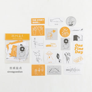 Taste of Life Cute Stickers Set (60 sheets)