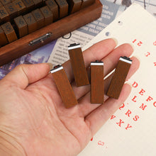 Load image into Gallery viewer, Alphabet Wooden Stamps (set)