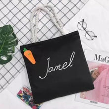 Load image into Gallery viewer, Jamel & Me Canvas Tote Bag