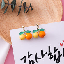 Load image into Gallery viewer, Sweet Colorful Fresh Fruit Earrings