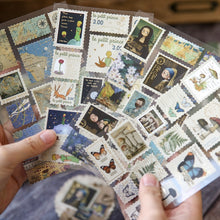 Load image into Gallery viewer, Time of Travel Stamps  Stationery Stickers (2 sheets)