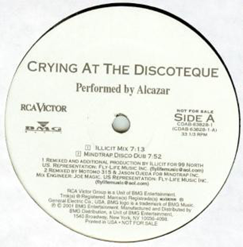 Alcazar ‎– Crying At The Discoteque