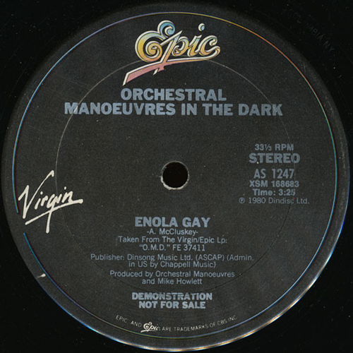 Orchestral Manoeuvres In The Dark ‎– Enola Gay (Vinilo usado) (VG+)