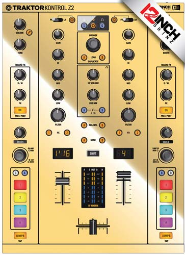 Native Instruments Z2 Skinz - Metallics Mirror Gold (Adhesivo de gran calidad)