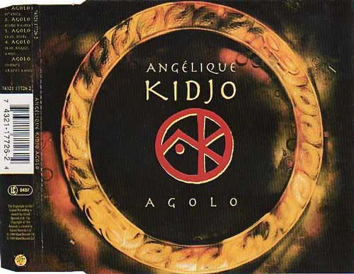 Angélique Kidjo ‎– Agolo (CD Maxi Single) usado (VG+) box 3