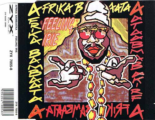 Afrika Bambaataa ‎– Feeling Irie (CD Maxi Single) usado (VG+) box 3