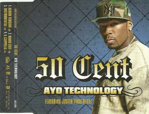 50 Cent Featuring Justin Timberlake ‎– Ayo Technology (CD Single usado) (VG+) box 10