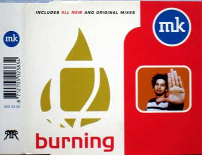 MK ‎– Burning (CD Maxi Single) usado (VG+) box 11