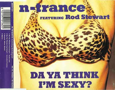 N-Trance Featuring Rod Stewart ‎– Da Ya Think I'm Sexy? (CD Maxi Single) usado (VG+) maleta 2