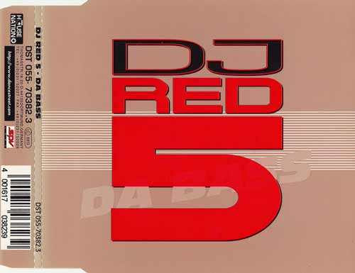DJ Red 5 ‎– Da Bass (CD Maxi Single) usado (VG+) box 7