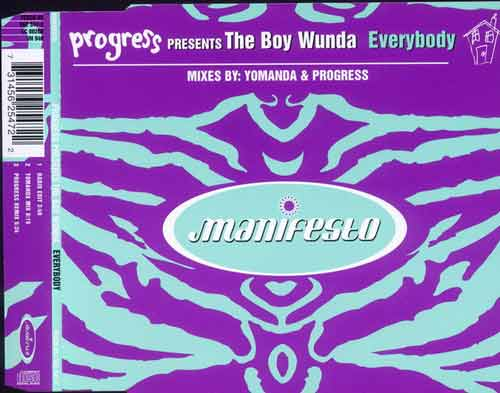 Progress Presents The Boy Wunda ‎– Everybody (CD Single) usado (VG+) box 4