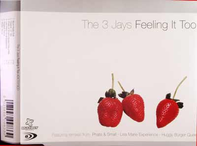 The 3 Jays ‎– Feeling It Too (CD Maxi Single) usado (VG+) box 11