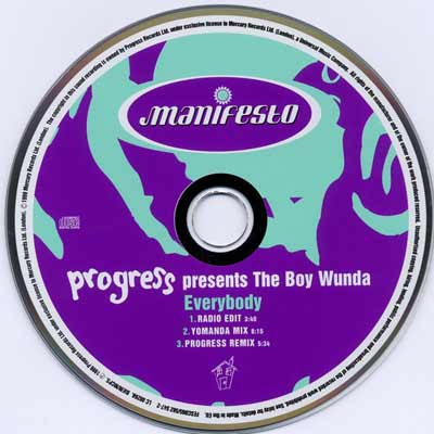 Progress Presents The Boy Wunda ‎– Everybody (CD Single) usado (VG+) maleta 2